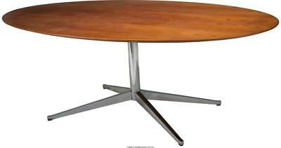 A FLORENCE KNOLL MODERN TEAK AND CHROME DINING TABLE, DESIGNED 1961... Lot 65856
