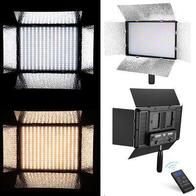 900 LED Studio Video Light Bi-color Dimmable 3200K-5500K For Studio Photography