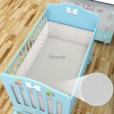 New Breathable Baby Mesh Liner Airflow Cot Bumper 4 Sided Breathable And Gate