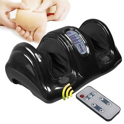 Foot Massager Shiatsu Kneading and Rolling Leg Calf Ankle With Remote Black Hot