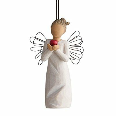 Willow Tree Youre The Best Angel Holding Apple Christmas Ornament 27468 Teacher
