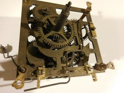 Clock work antique brass made in germany
