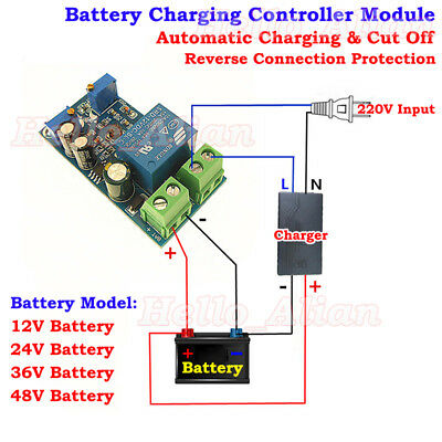 Battery BMS Automatic Charging Switch Controller Module Protection Relay Board