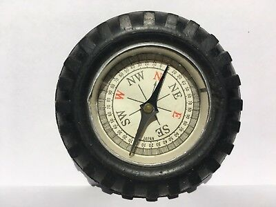Vintage rubber Tire * Compass * Japan