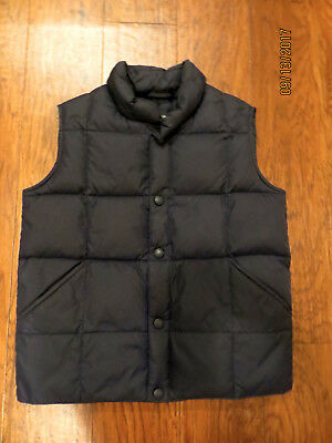 Land's End Girl's Navy Quilted Pufer Vest Size 5-6 -Free Ship