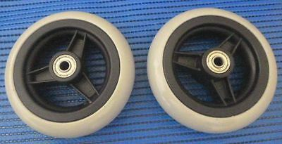 Two 5 inch wheels for wheelchair new