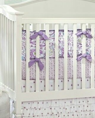 Pottery Barn Girls Brooklyn Baby Crib Skirt, Bumper and Fitted Sheet