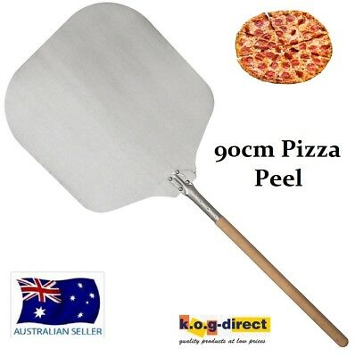Proffesional Oven Pizza Peel Paddle Lifter With Wooden Handle 90Cm