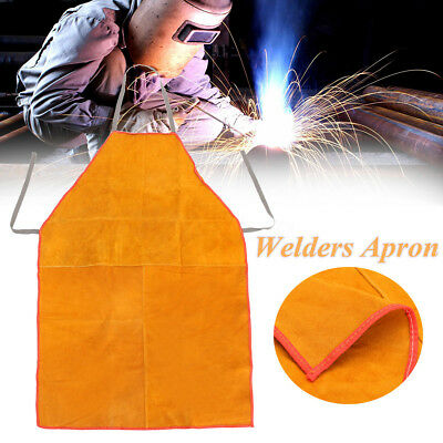 46X91cm Welders Welding Bib Shop Apron Tan Blacksmith Heat Insulation Protection