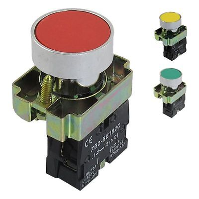 22mm Sign Momentary Push Button Switch 600V 10A W7V8