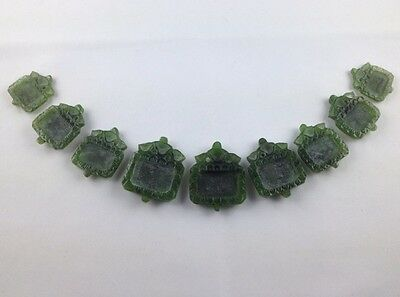 MUGHAL STYLE ANTIQUE  9  JADE CARVED PENDANT Lot  Collectible