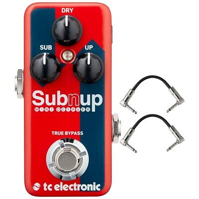 TC Electronic Sub 'N' Up Mini Octaver True Bypass Guitar Effects Pedal + Cables