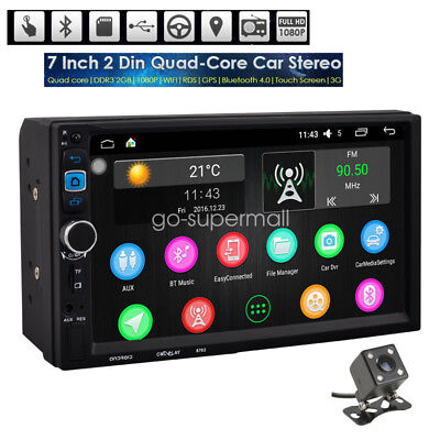 "7"" Android Quad Core WIFI Double 2DIN Car Radio Stereo MP5 Player Sat GPS Touch"