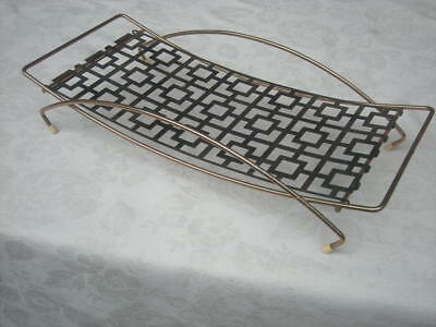 Vintage Mid Century Curved TRAY, Geometric Design Base, 1950/60's Retro - Fruit?