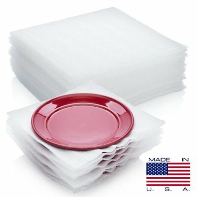 50-Pack Cushion Foam Sheets Safely Wrap Protect Dishes China Glasses Moving