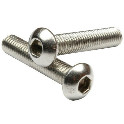 Stainless Steel Button Head Screw, Hex Socket Bolts Type:M8 / 8mm Bolt size G8N2