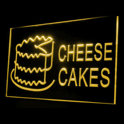 110041 Delicious Cheese Cakes Shop Cafe Cupcake Desert Raspberry LED Light Sign