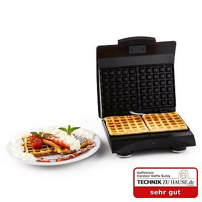 Stylish Klarstein Stainless Steel 700 W Waffle Iron Non Stick - Red High Quality