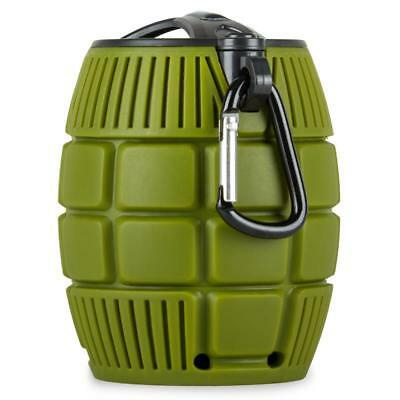 Green Hand Grenade Portable Wireless Speaker With Microphone Hands Free Phone