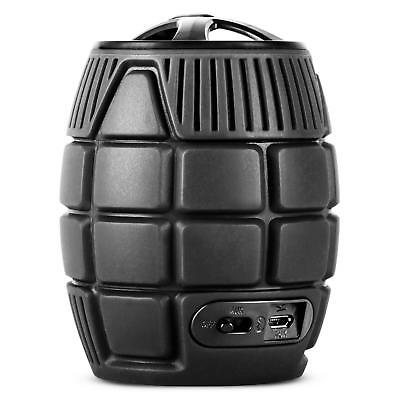 Black Hand Grenade Portable Wireless Speaker With Microphone Hands Free Speakers