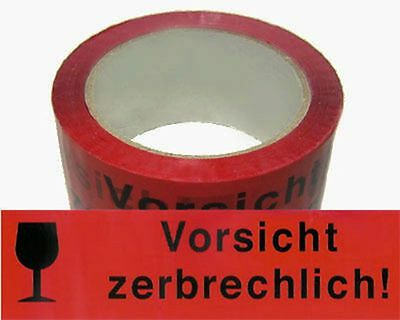 ( eur. 0,03 / M) Packing Tape Tape 50mmx66m Warning Tape warning fragile