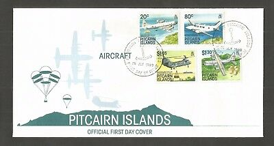 Pitcairn Islands 1989 Aircraft Fdc Sg,348-351 Lot 5102A