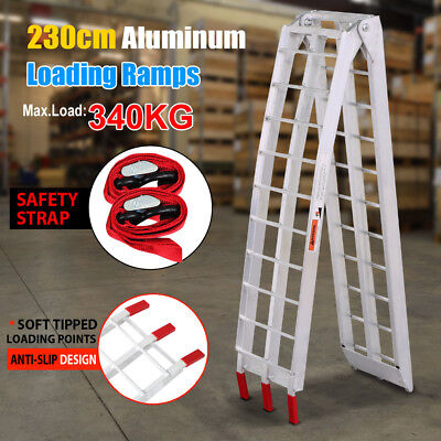 2.3M Heavy Duty Foldable Aluminum 340KG Motorbike Loading Ramps ATV Trailer