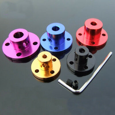 Aluminum Alloy Rigid Flange Coupling Shaft Shaft Support Fixed Seat 3-8mm US