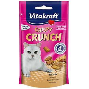 Snacks para gatos Vitakraft Crispy Crunch de malta: 60 g