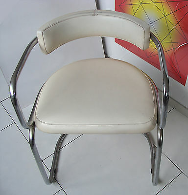 Retro 1960's cantilever Bahaus styled tubular chrome chair - Collect SE1