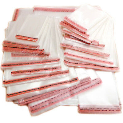 Clear Cellophane Cello Bags Self Seal For Cards Large Small Wrap Gift Food Party