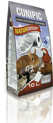 Lecho para aves y roedores Naturlitter Papel Cunipic: 10 l