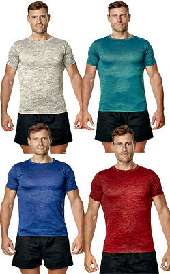 Mens Running T Shirt Exercise Sports Top Gym Active Wicking Cool Breathable Tee