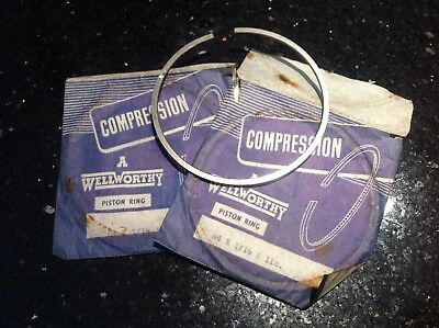 Vincent H.R.D Compression Piston Rings STD Wellworthy