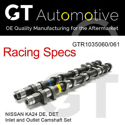RACING CAMSHAFT SET Inlet/Exhaust Camshafts for NISSAN KA24 DE DET 264 DURATION