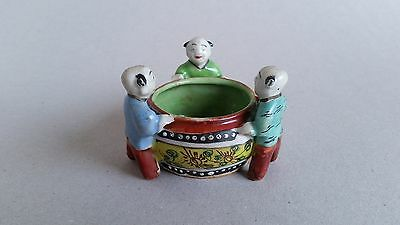 Chinese famille rose brushwasher with 3 children,Qing 18th C Qianlong 乾隆 period