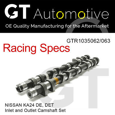 RACING CAMSHAFT SET Inlet/Exhaust Camshafts for NISSAN KA24 DE DET 272 DURATION