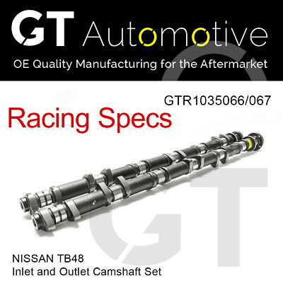 RACING CAMSHAFT SET Inlet/Exhaust Camshafts for NISSAN TB48
