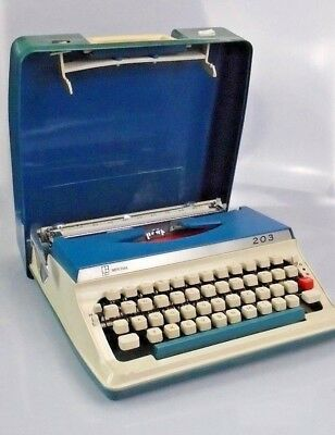 CC ~ Vintage ~ Litton Imperial ~ Typewriter ~ 203 ~ Blue ~ 1960s ~ Writing ~ Old