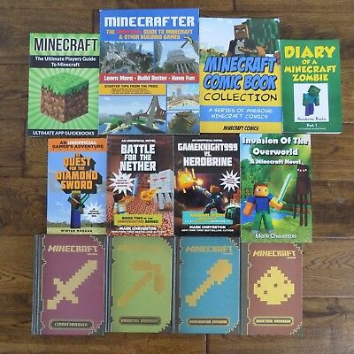 Lot 12 Minecraft Books Handbooks Diary of a Minecraft Zombie Boys