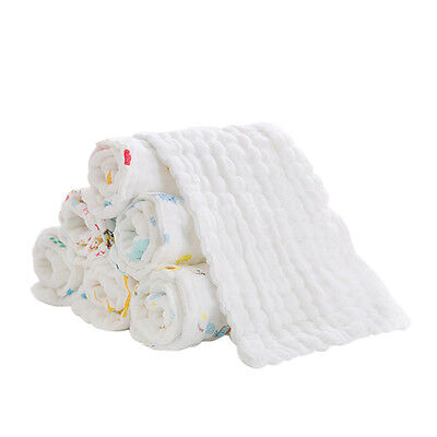 Soft Baby Inserts Nappy 12 Layers Cloth Cotton Liners Diapers Reusable Washable
