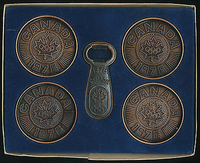 Montreal Olympics 1976 Souvenir Drinks Set - Bottle Opener and Coasters