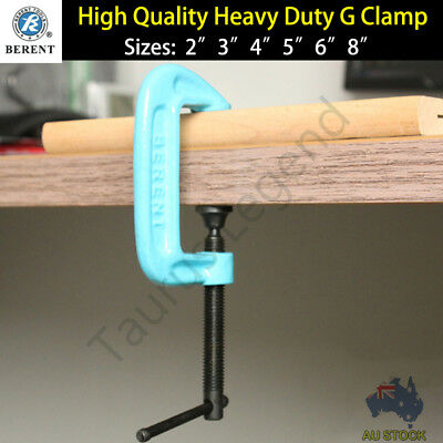 Heavy Duty G Clamp Workbench Grip Carpentry Metalwork Tool Size 2 3 4 5 6 8 inch