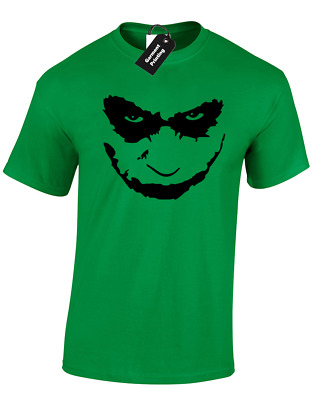 Joker Face Kids Childrens T Shirt Dark Knight Bat Funny Man Boys Top