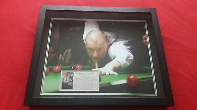 Hand Signed and  Framed Red snooker ball by 6 Times World Champion Steve Davis