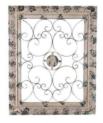 Metal Wall Art Antique Vintage Style Home Decor Shabby Chic Cottage Style