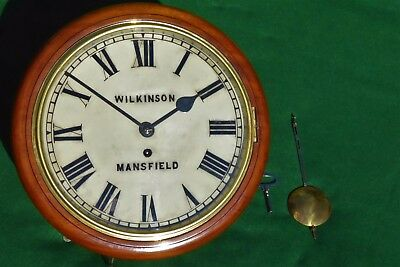 Antique Wilkinson (Mansfield) Dial Clock With A Smiths Astral Gut Fusee Movement
