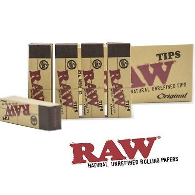 Raw Rolling Paper Tips 5 Packs