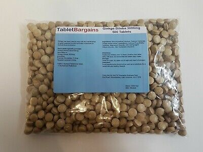 Tablet Bargains - Ginkgo Biloba 3000mg 500 Tablets
