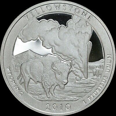 2010 S Wyoming Quarter ATB Yellowstone Gem PROOF Deep Cameo US Mint Coin Clad